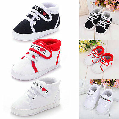 AU 0-18M Newborn Infant Baby Kid Soft Sole Shoes Toddler Boy Girl Canvas Sneaker