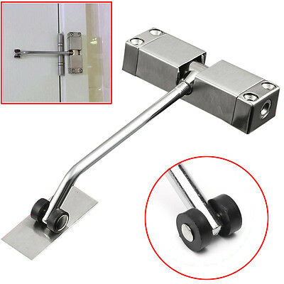 Heavy Duty FIRE RATED Overhead Door Closers Opener Soft Close Adjustable Silver