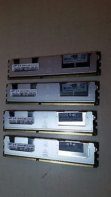 HP 500206-071 32GB (4X 8GB) 2RX4 PC3-8500R-07-10-E1-D2 DDR3-1066 Server Memory