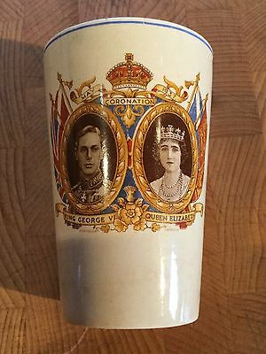 CORONATION BEAKER GEORGE Vl & QUEEN ELIZABETH