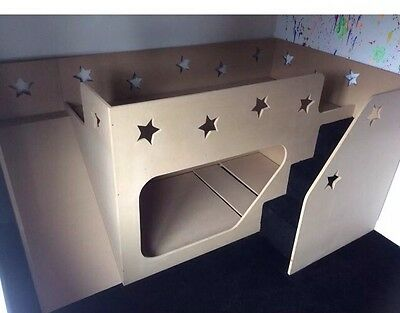 Handmade Kids Bunk Cabin Beds With Stairs
