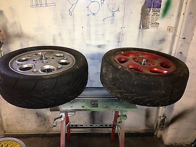 2x ALLOY WHEEL REPAIR paint STAND HOLDS 4 WHEELS & TYRES Painting Spinning