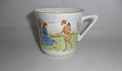 VINTAGE HEATHCOTE CHINA CUP Childrens Nursery Ryme c1920s