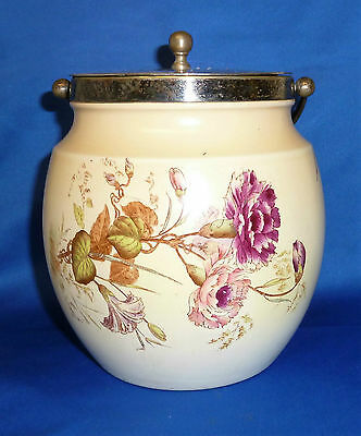 Antique Rare Wiltshaw & Robinson W&R Early Carlton Ware Blush Biscuit Barrel