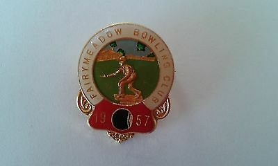Badge Fairymeadow Bowling Club with pin