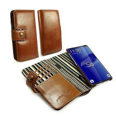 Alston Craig Alston Craig Genuine Leather Magnetic Shell Wallet Case for Galaxy