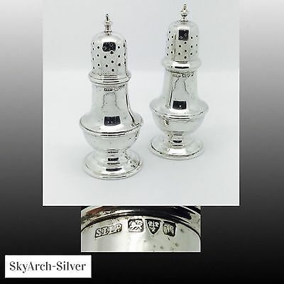 SOLID SILVER Pepper Pots  HALLMARKED CHESTER 1921 Stokes & Ireland 116g SILVER