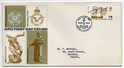 Set Of 4 Gpo First Day Covers 1968 British Anniversaries