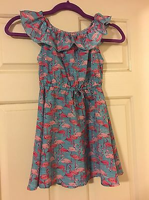 Bulk Lot Girls Clothing Size 5&6 5 Items Dresses / PJ Flamingo Frozen Barbie