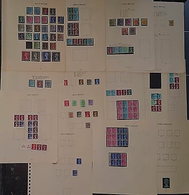 GB Machin Definitives Used Stamps on Album Pages (NoL209)
