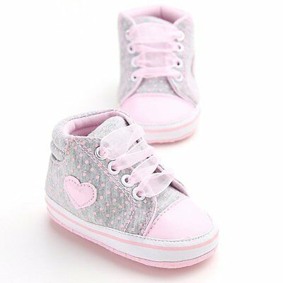 AU Baby Newborn Infant Soft Sole Shoes Toddler Kids Boy Girl Sneaker 0-18 Months