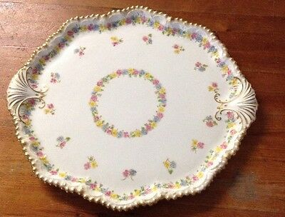 Beautiful Large Floral Ceramic Dressing Table Tray