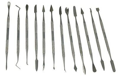 12PC Wax Carving, Shaping Model Tools Candle Modelling Clay Carvers Spatula