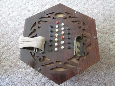 Antique Charles Wheatstone 48 Button Concertina #11473 circa 1861