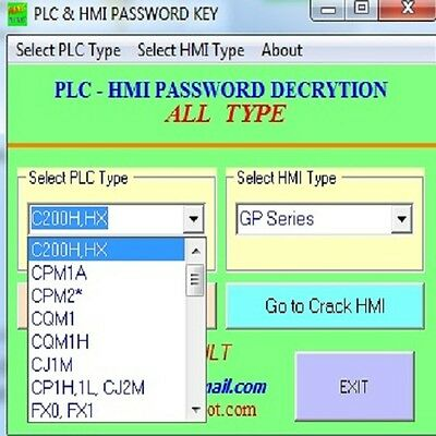 Unlock Password PLC CRACK ALL PLC & HMI V2.2.1