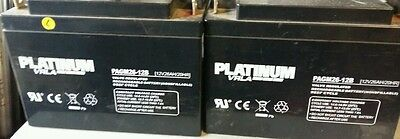 PLATINUM VRLA PAGM26 12B  SEALED BATTERYS. Good for scooters, carts etc.
