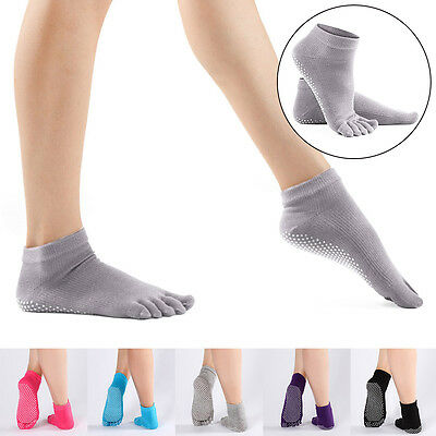 Five Toe Yoga Fitness Grip Excercise Socks Sport Rubber Pilates Non Slip Socks