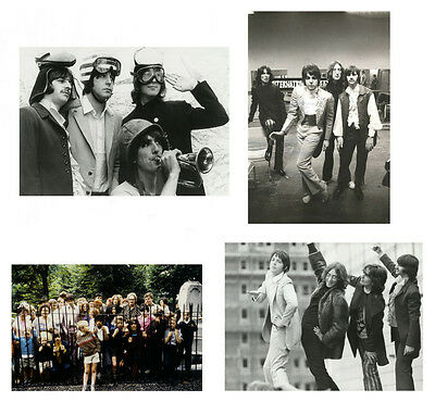 """Beatles photo Session """"Mad Day Out"""" 1968, 4 rare real photos,Set 1, John Lennon"""