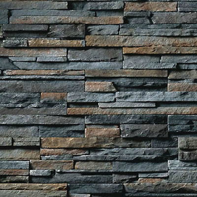 200 X 270 X 1Mm G Stone Wall Slate Treated Bumpy Paper Sheets 3D Look & Feel