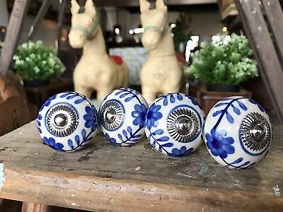 1x 40mm Ceramic Porcelain Door Knobs Furniture Drawer Cabinet Kitchen Handles