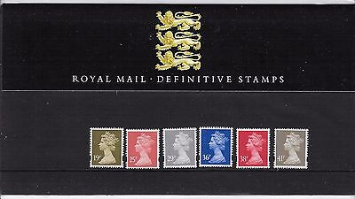 GB 1993 ROYAL MAIL DEFINITIVE MACHIN 19p to 41p  PRESENTATION PACK No. 30