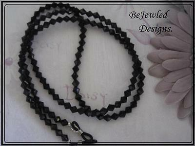 Eyeglass, Sunglass, Spectacle Chain Holder ~~Black~ ~Handcrafted~