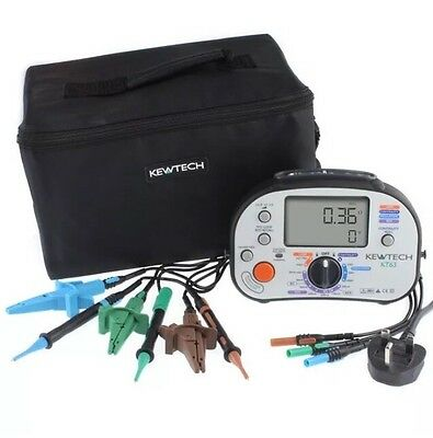 NEW KEWTECH KT63 17th EDITION MULTIFUNCTION MFT TESTER INCLUDES CALIBRATION