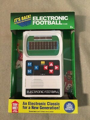 Mattel Classic Electronic Football Handheld Game Retro Style - Brand New In Box