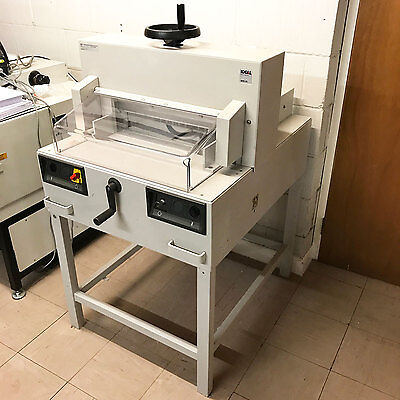 IDEAL 4810-95 Electric Power Guillotine Paper & Card Cutter Printer Trimmer
