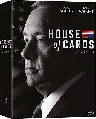 House of Cards - Stagioni 1-4 (16 Blu-Ray) Cofanetto *Nuovo sigillato*