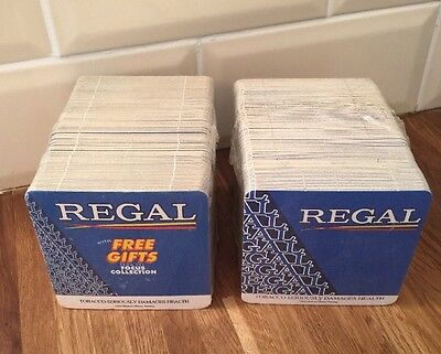 2x NEW PACK REGAL  CIGARETTE   BEER  MATS  /  COASTERS