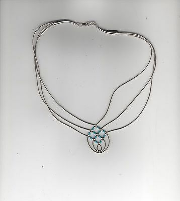Native American (Navajo)Sterling Silver/Turquoise Necklace