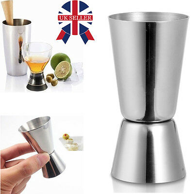 Stainless Steel Double Single Shot Measure Jigger Spirit Bar Cocktail Drink Cup