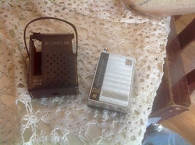Vintage GE General Electric AFC AM/FM Transistor Radio WITH CASE