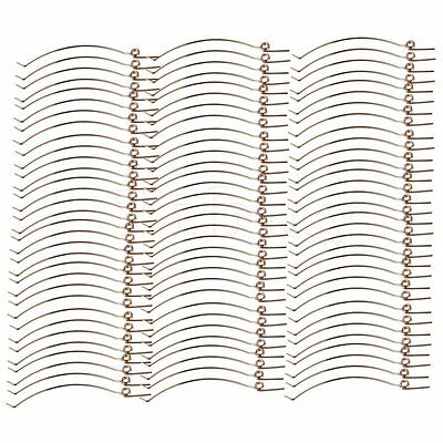 Yibuy Piano Hammer Butt Springs Set of 70 Golden