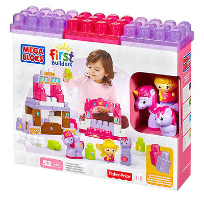 Mega Bloks First Builders Pony Palace With Sparkling Blocks Playset Bnib Cxp06