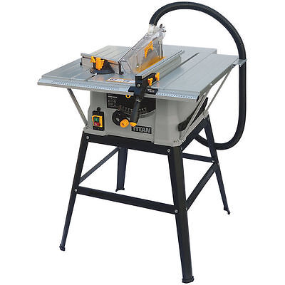 Table Saw 254MM Powder-coated 230-240V Adjustable Aluminium Stop Rails