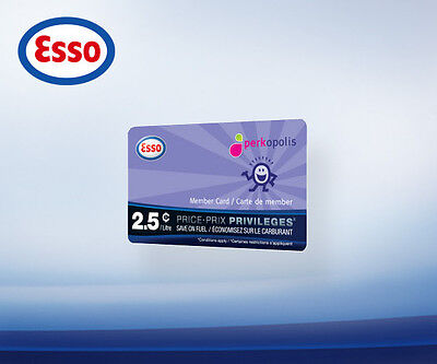 Fuel Saving Esso Price Privileges Card-Save 2.5c/L on 2000L-That's a $50 value
