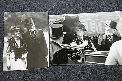 Social History - B&W Real Photo Gentleman & Lady (Carriage) Gudrum Hensling