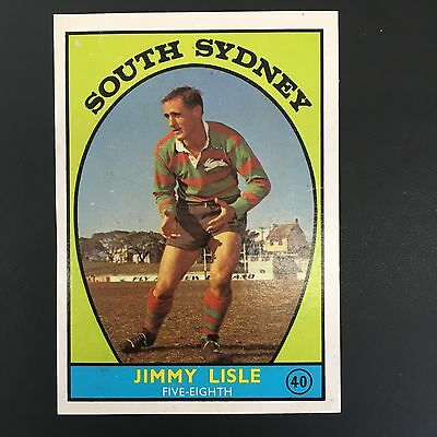 1968 Scanlens Rugby League Card #40 Jimmy Lisle