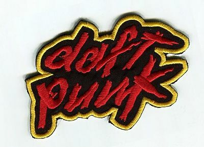 Daft Punk Patch Embroidered Badge Music Logo Costume Cosplay Souvenir Bag Hatf