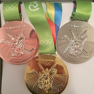 Rio 2016 Olympic Medal Set of 3  - Gold, Silver and Bronze. (Slightly Damaged)
