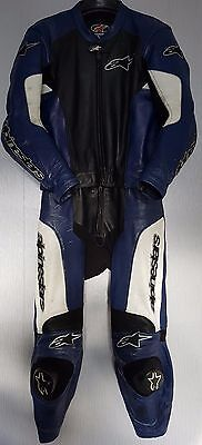 *Alpinestars GPU *Two Piece Motorcycle Leather Suit *Race Track *EU 56 UK 46
