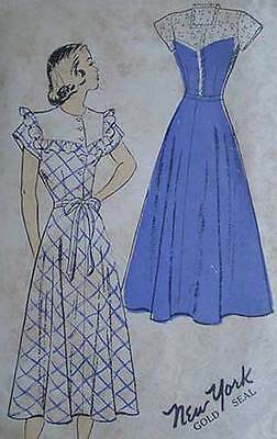 Vintage 40s Juniors Dress New York Sewing Pattern 35