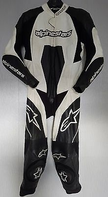 *Alpinestars Carver *One Piece *Motorcycle Leather Suit *Track Race *EU 52 UK 42