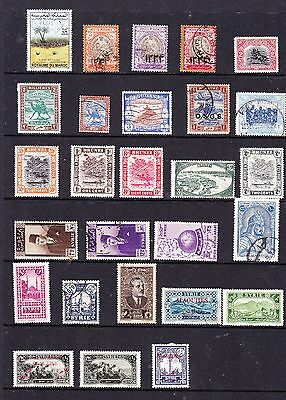 Middle East stamps - 27 MH & Used