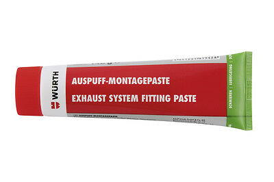 WURTH EXHAUST SYSTEM FITTING PASTE 140g Assembly Seal Temp Resistant 700c