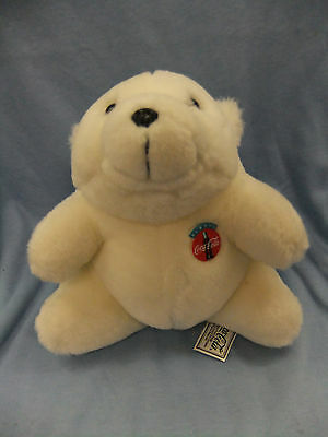 1993 Coca Cola White Polar Bear Plush Stuffed Animal