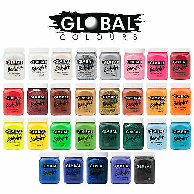 25+ Colours Global Body Art 200Ml Face And Body Paint Party Costume Halloween