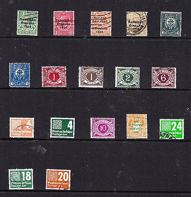Ireland stamps - 17 Used Postage dues